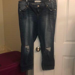 Women's Torrid 14R destructed jean